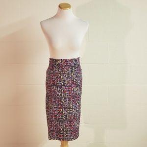 Lularoe》 XL Cassie Purple Stretchy Bodycon Skirt
